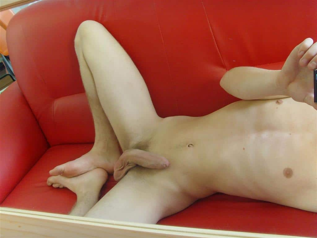 Nude Boy In Sofa