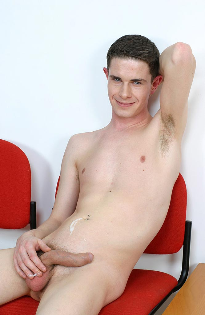 Nude Teen Boy With Cum On His Belly