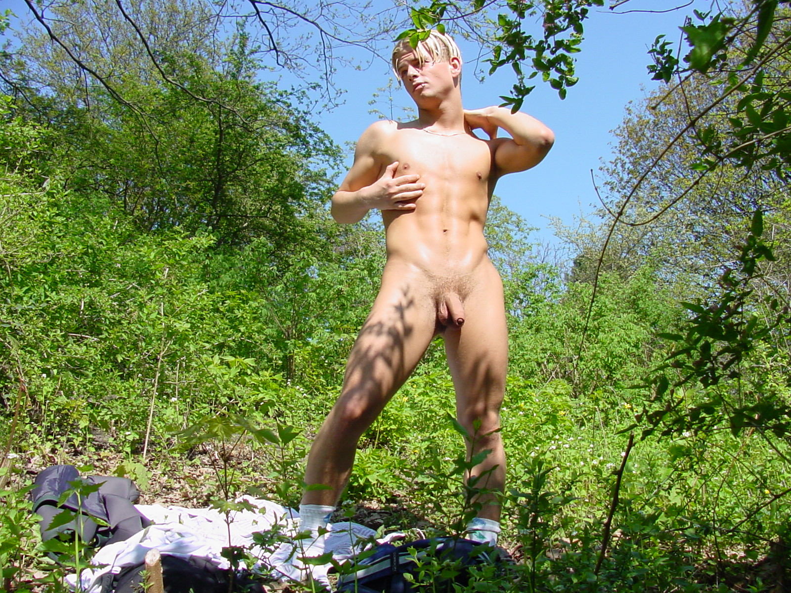 Sexy Nude Boy With A Shaved Cock